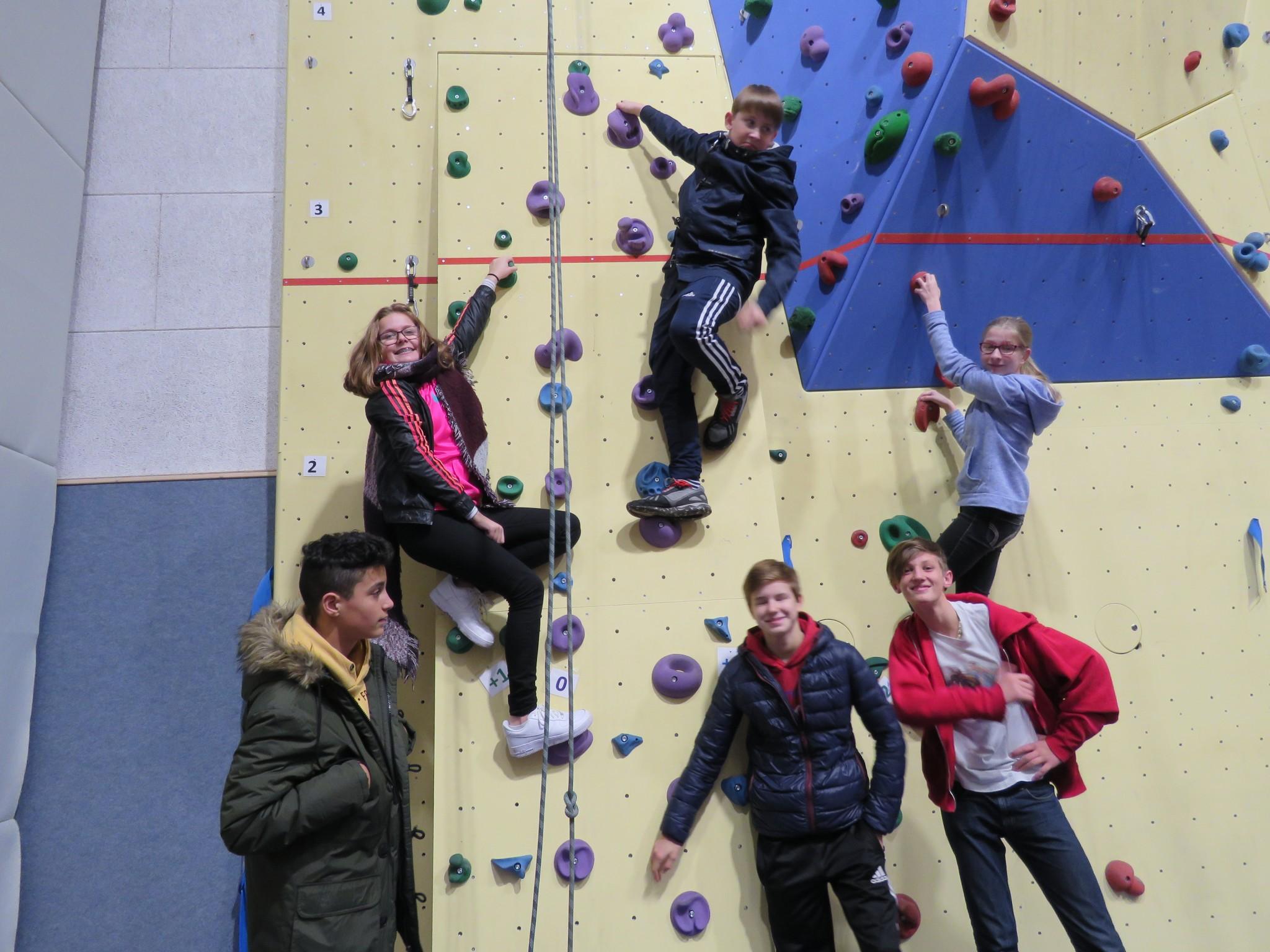 Klettergruppe 7. - 8. Klasse