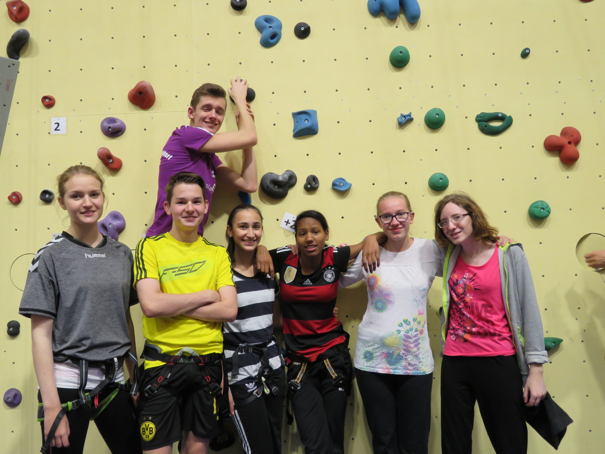 Klettergruppe 9. - 10. Klasse
