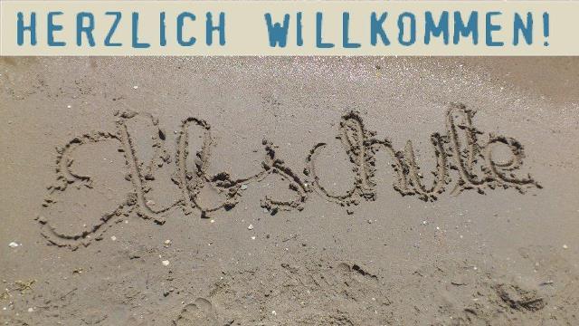 Ganztagsschule Sandbild_Willkommen