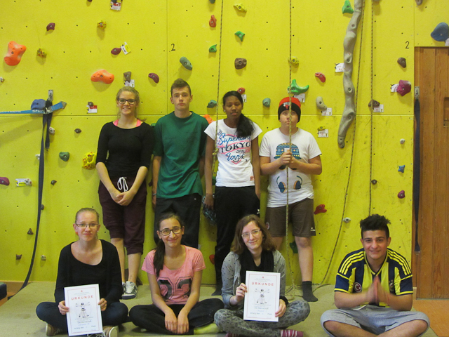 Team Elbschule + Ersatzkletterin von der Schülerschule